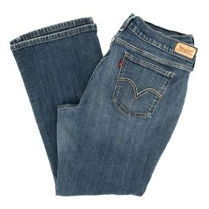 Levi's 515 Jeans Boot Cut Embroidered Sz 16 33X27